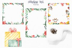 Christmas bull Watercolor Clipart Product Image 7