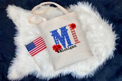 State abbreviation. USA sublimation. Michigan Product Image 3
