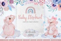 Watercolor Baby Elephant Set Product Image 1