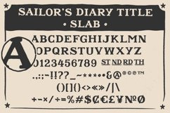 Sailors Diary Sans & Title Slab Tattoo Style Font Product Image 7