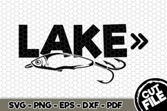 Lake - SVG Cut File n228 Product Image 1