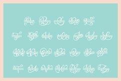 Split Monogram Alphabet Font - Hand Lettered Initials! Product Image 3