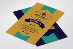 Retro Vintage Vertical Business Card Product Image 1