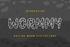 Web Font Wormmy Font Product Image 1