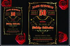 Vintage Birthday Invitation Card Product Image 1