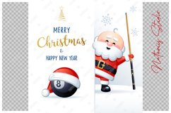 Merry Christmas and Happy New Year. Billiard. Product Image 2