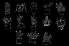Hand Drawn Doodle Potted Plants Cliparts Product Image 3