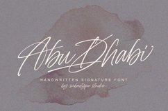 Abu Dhabi - Handwritten Signature Font Product Image 1