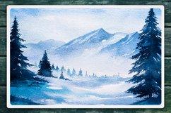 Winter Landscapes set#2. Watercolor. Product Image 4