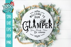 Custom Welcome To our Glamper SVG DXF Commercial Product Image 1