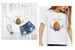 Happy Easter Sublimation,Easter Sublimation Design,Floral Product Image 3