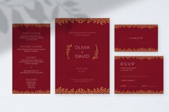 Burgundy Wedding Invitation Product Image 2