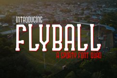 Fly Ball a Sporty Font Quad Product Image 1