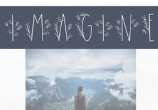 Dream - Handmade Floral Font Product Image 6