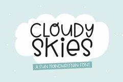 Web Font Cloudy Skies - A Fun Handwritten Font Product Image 1