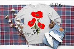 Poppy flowers SVG / EPS / DXF / PNG files Product Image 4