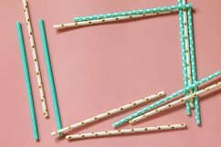Biodegradable drinking straws for party. Product Image 1