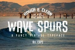 The Wave Spurs Typeface Product Image 1