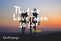 Cerita Senja - Quotes Font Product Image 5