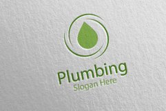 Plumbing Logo with Water and Fix Home Concept 41 Product Image 5