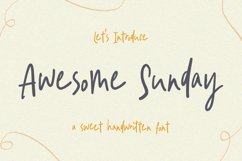 Sweet Handwritten Font - Awesome Sunday Product Image 1