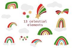 Christmas Unicorns Clipart Set Product Image 4