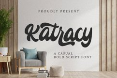 Katracy - Bold Script Font Product Image 1