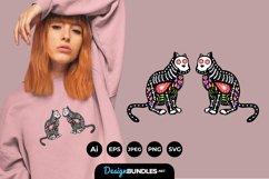 Sugar Skull Cat for T-Shirt Design Product Image 1