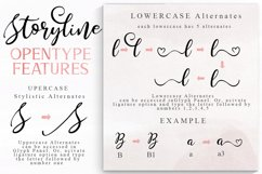 Storyline Font & Watercolour Pack Product Image 4