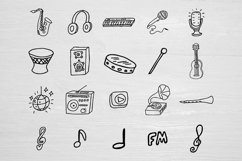 Music doodle kit SVG design Product Image 3