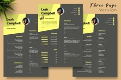 Modern Resume CV Template for Word & Pages Leah Campbell Product Image 4