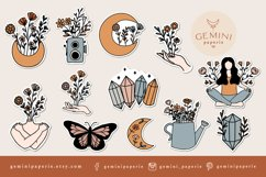 Stickers Bundle PNG | Printable Flower Stickers for Cricut Product Image 2