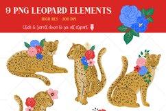 Leopard Floral Clipart & Patterns Product Image 4