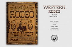 Western Rodeo Flyer Template V2 Product Image 1