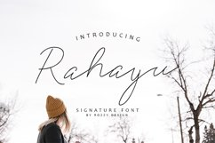 Rahayu Signature Font Product Image 1
