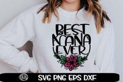 Best NANA Ever - Nana Svg - SVG PNG EPS DXF Product Image 1