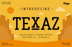 Texaz Font Family - Slab Serif Vintage Font Style Product Image 1