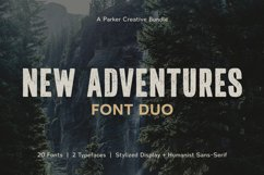 Adventures Font   Duo by Parker Creative Product Image 1