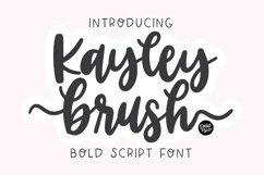 KAYLEY BRUSH a Beautiful Flourish Script Product Image 1