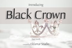 Black crown Font Product Image 1