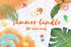 Summer Bundle - watercolor illustrations Product Image 1