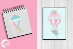 Hot Air Balloons, graphic, illustration, clipart AMB-1388  Product Image 4