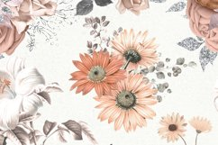 Peachy Floral Digital Paper Product Image 2