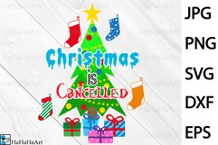 Christmas Is Cancelled - Clip art / Cutting Files 1419c Product Image 1