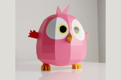 PDF Template of Baby Bird On Moon / Hatchling / Papercraft Product Image 3