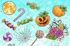Cute Halloween Clipart, Bats Clip Art PNG Pack Product Image 5