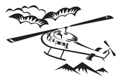 helicopter chopper flying Product Image 1
