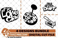 4x Car Designs Bundle svg, Camping svg, Tuning svg, Drift Product Image 1