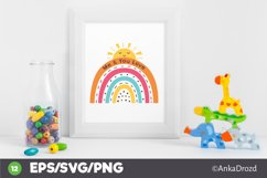 Set Colorful Rainbow clipart png, svg. Happy Baby Rainbow Product Image 3