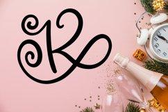Swirly Monogram Font - Swirly Initials Product Image 4